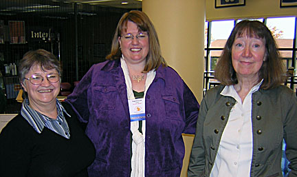 Rebecca & Pam with another author